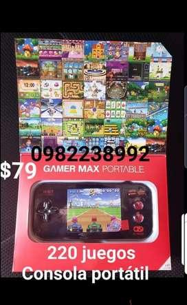 Consola portátil 220 juegos súper divertida SOLO PUYO