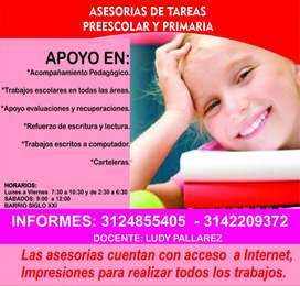ASESORIAS DE TARES PREESCOLAR Y PRIMARIA