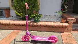 Monopatín rosado, metálico, para niños, jóvenes o adultos