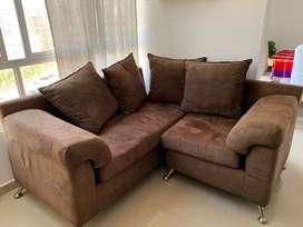 Sofa y mesa de centro