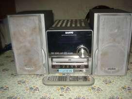 Minicomponente micro Sanyo Dcda213 C/ctrl Rem Orig excelente sonoridad