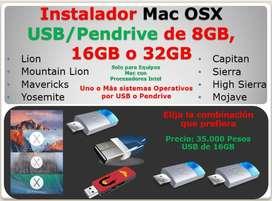 Apple Iphone USB 8, 16, 32 GB,  Mac Osx Para Equipos con CPU Intel