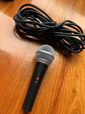 Microfono Silver + cable