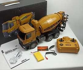 Mezclador de Concreto a Control Remoto HUINA 1574 escala 1:14 juguetes para niños para regalo de navidad