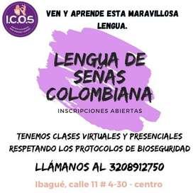 Cursos de lengua de señas colombiana