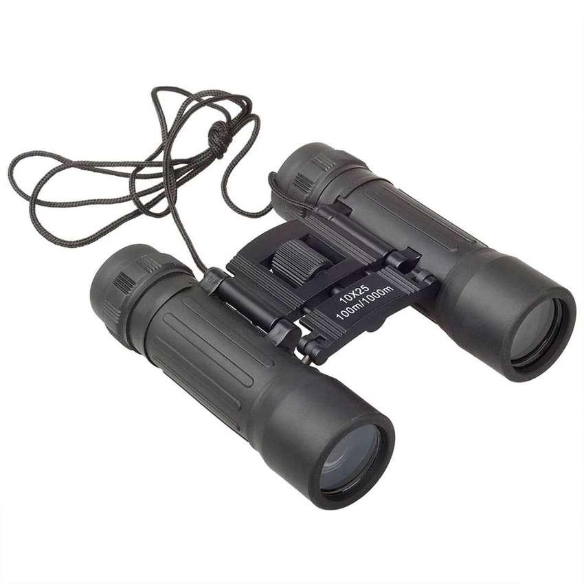 Binoculares Telescopicos 10x25 Plegables Pequeño Con Estuche 0