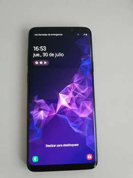 SAMSUNG GALAXY S9+ PLUS NEGRO IMPECABLE  + DOS FUNDAS ORIGINALES SAMSUNG