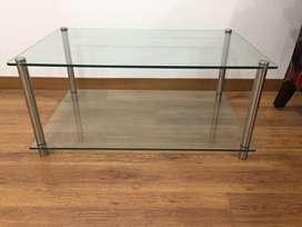 Juego de mesa con esquinero de vidrio