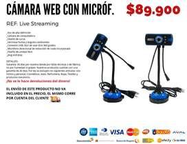 Cámara web con micrófono