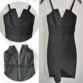 Vestido Dama negro