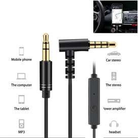 Cable audio stereo x tristereo con microfono contestador balaca celular pc auxiliar resortado