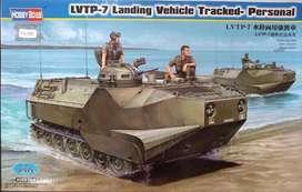 1/35 Vehículo Ambifio Lvtp Tanque Mirage Diecast Auto Armado