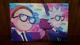 Cuadro Rick And Morty Canvas 40x26