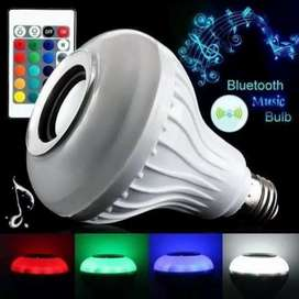 Lampara led colores y parlante bluetooth