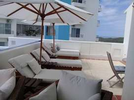 """Vendo Hermoso Penthouse Amoblado en El Balneario de """"playas Villamil"""""""