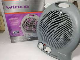Caloventor Electrico Termostato Apto Baño Portatil Winco