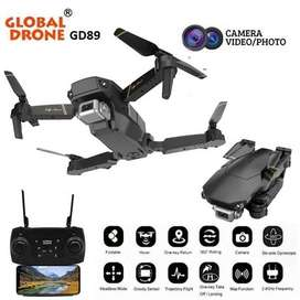 Drone Dron plegable  con camara WIFI HD 720p global drone GD89, estabilizador de altura 100mts