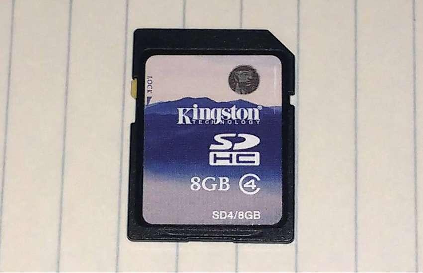 Tarjeta SD 8 gb Kingston