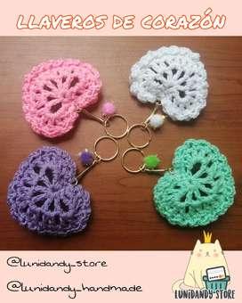 Llaveros tejidos crochet