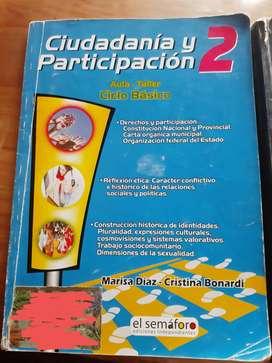 Libro CIUDADANIA Y PARTICIPACION 2 EL SEMAFORO.  Ciclo basico. Marisa diaz.