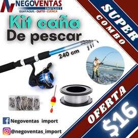 KIT COMPLETO DE CAÑA DE PESCAR