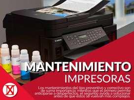 Mantenimiento de impresoras, soporte de impresoras, reparación de impresoras, arreglo de impresoras