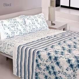 Sábanas doble cama, 100% algodón