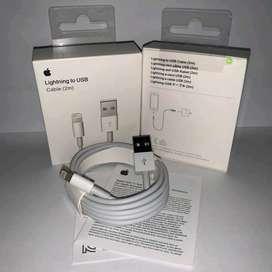 Cable original iphone 2 metros nuevo en caja 1 año garantia DOMICILIO GRATIS