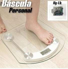 Bascula Digital Pesa Personas Baño Pantalla 180kg Digital