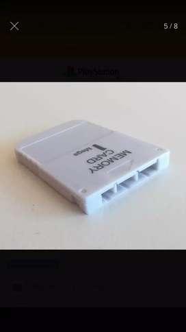 Memoria card play 1 mega1