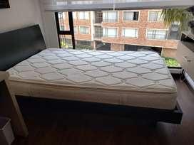 Vende cama semidoble con colchon