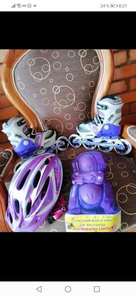 Vendo patines morados marca Canariam