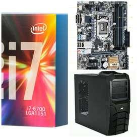 PC i7 6700 8gb ssd hdd w10 permuto