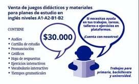Clases de inglés y matemáticas. asesorías en trabajos virtuales