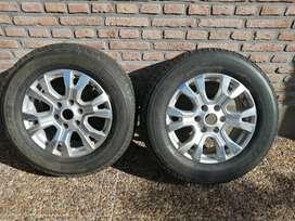 2 ruedas casi nuevas Ford Ranger Limited 2016