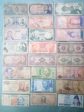 Billetes de colombia y otros paises