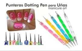 Lapiz Dotting X 5 10puntas Nail Art Deco Uñas Manicura $