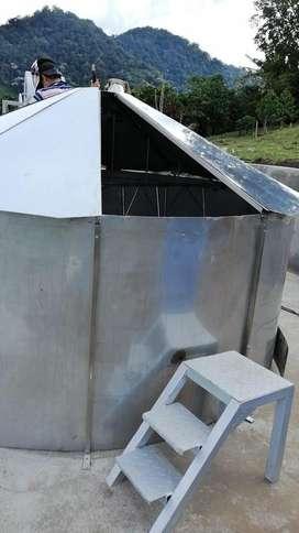 EQUIPO PARA SECAR CAFE  CON COLECTOR SOLAR