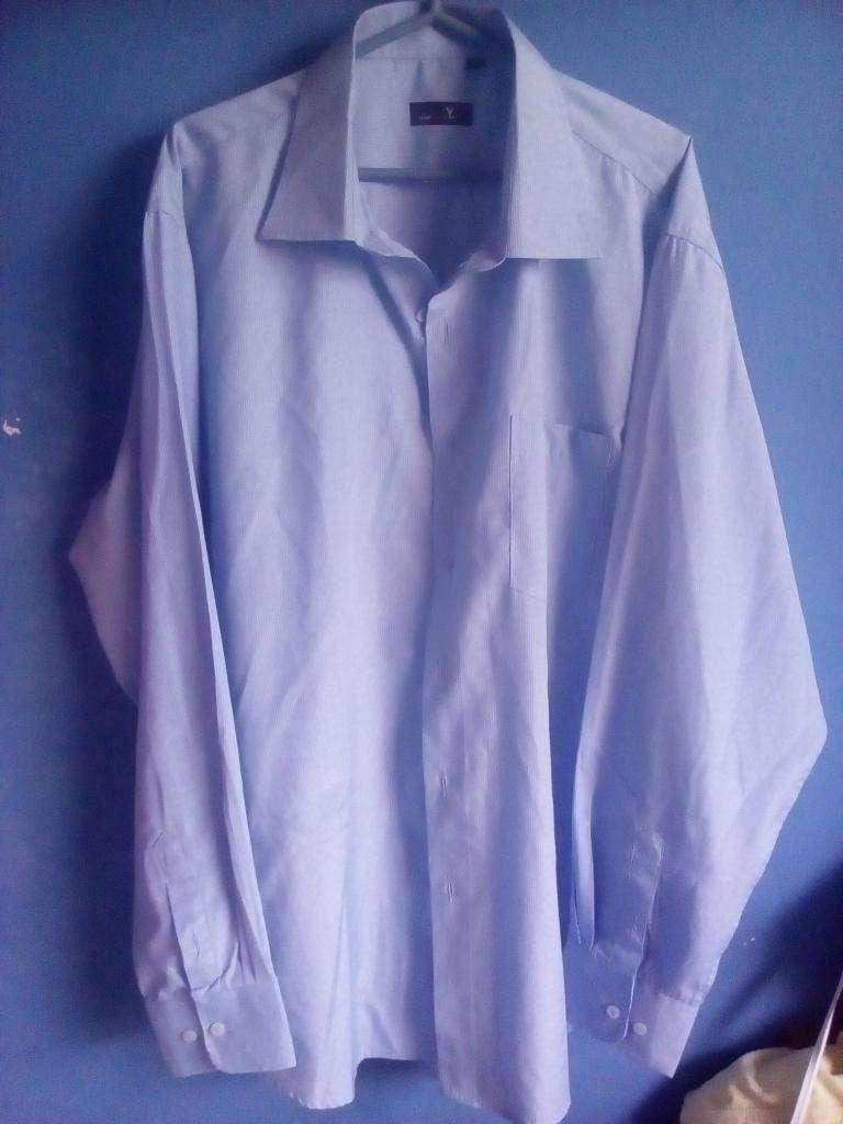Camisas hombre italianas de algodón manga larga talla 18 0