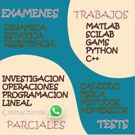 METODOS NUMERICOS INVESTIGACION DE OPERACIONES FISICA ESTATICA RESISTENCIA CALCULO ECUACIONES DIFERENCIALES MATLAB GAMS