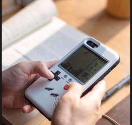 Case retro game para iphone colore negro y blanco para iphone 6plus, 7, 8, 7plus y 8plus