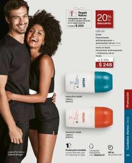 PROMOCIÓN NATURA: 20% de descuento en desodorante roll-on Kaiak masculino y femenino 75ml