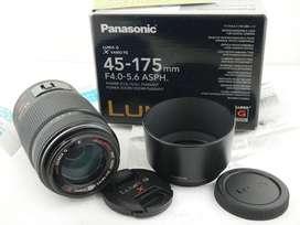 Lente Panasonic Lumix 45 175mm power ois micro 4/3