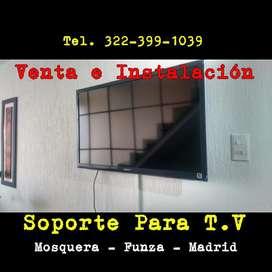 Servicio de Instalaciones de TV en Mosquera - Madrid - Facatativá, Soportes Para TV, Bases para TV, Repisas, Tendederos