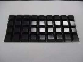 Bumpon Sj 5023 Cuadrado Negro Caja X 1000 MARCA 3M