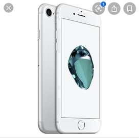 Vendo iphone 7 de 32 gb plateado todo funcional