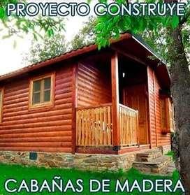 Kit Proyecto Proyecto Construye Casas Cabañas Madera Planos Ideas