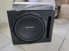 Planta audio pipe 4 canales 1000watts y bajo kenwood con caja