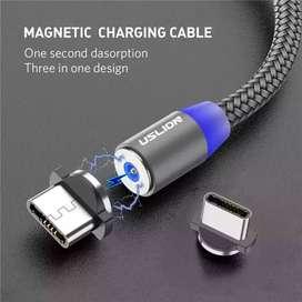 Cable magnetico tipo  c carga rápida