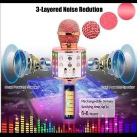 Reproductor de música y micrófono